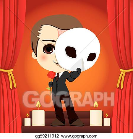 Vector Illustration - Phantom of the opera. EPS Clipart gg59211912 ... png transparent download