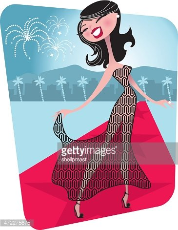 Actress red carpet clipart clip free Hollywood Red Carpet Actress premium clipart - ClipartLogo.com clip free