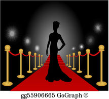 Actress red carpet clipart clip royalty free stock Actress Clip Art - Royalty Free - GoGraph clip royalty free stock