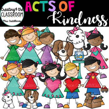 Acts of Kindness Clip Art Growing Bundle {Kid Clip Art} graphic transparent library