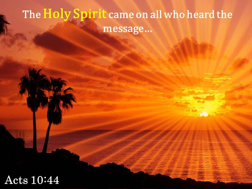 Acts 10 44 The Holy Spirit Came On All Powerpoint Church Sermon ... image freeuse stock
