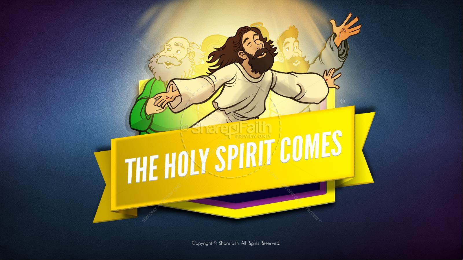 Acts 2 clipart clipart black and white Acts 2 The Holy Spirit Comes Kids Bible Story | Kids Bible Stories clipart black and white