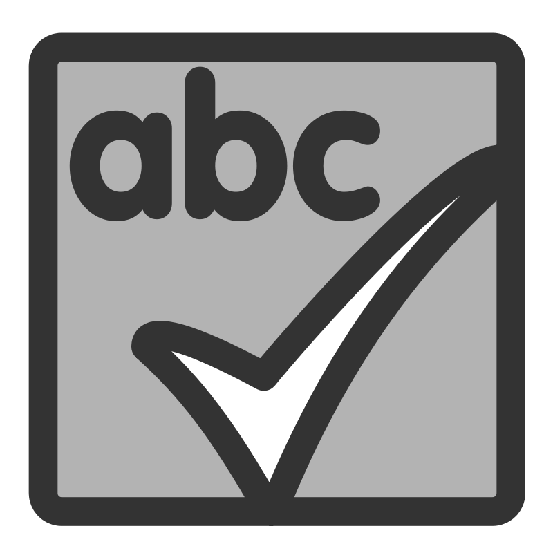 Free Clipart: Ftspellcheck actual | Anonymous jpg free stock