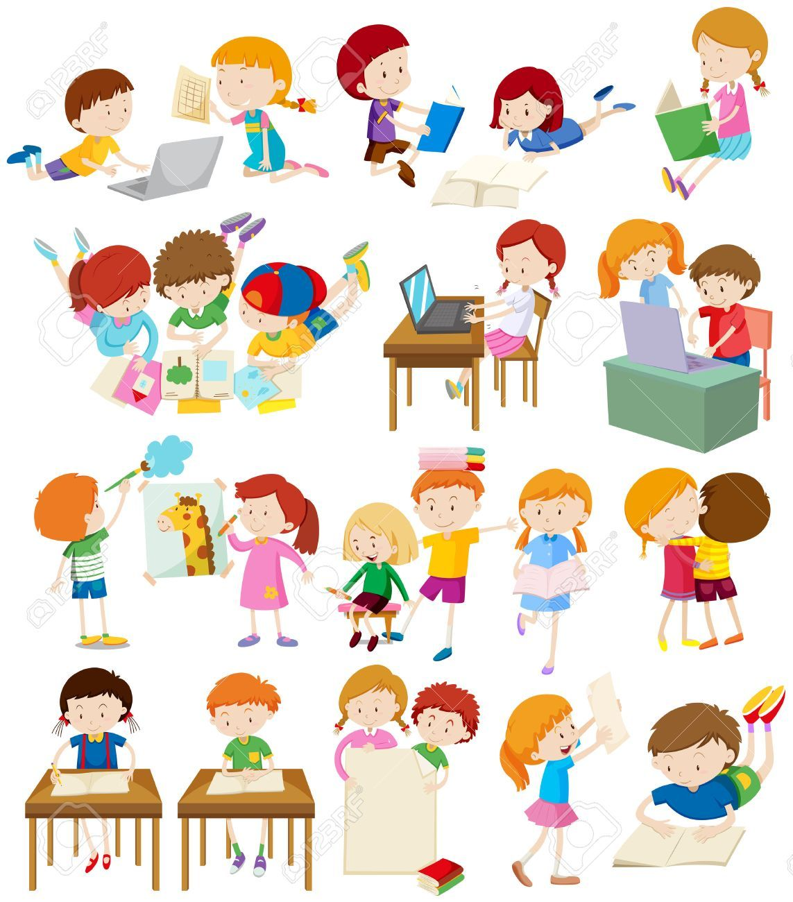 School activity clipart 1 » Clipart Portal graphic royalty free download