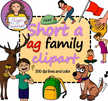 Ad family clipart jpg transparent stock Short \'a\' -ag Family Clipart jpg transparent stock