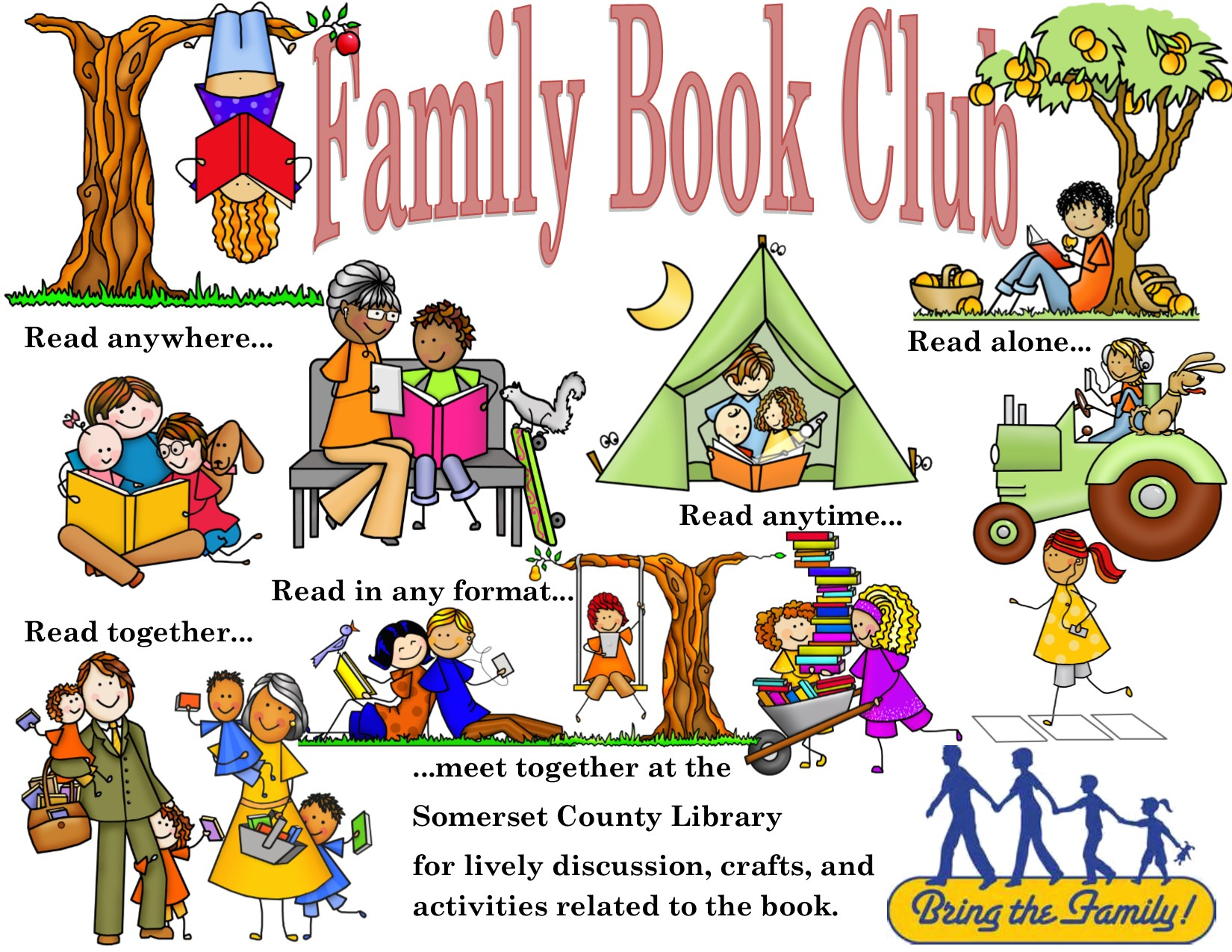 Ad family clipart svg royalty free download Family Book Club – Somerset County Library svg royalty free download