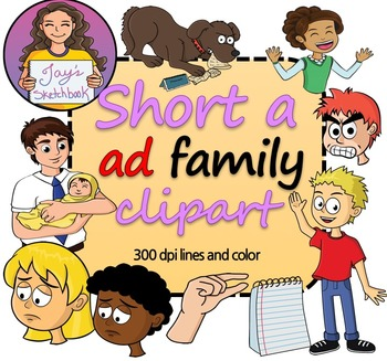 Ad family clipart jpg transparent stock Short \'a\' -ad Family Clipart jpg transparent stock