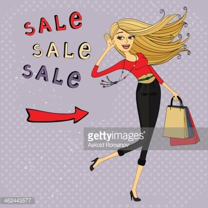 Ad girl clipart clipart transparent download Fashion Sale Ad, Shopping Girl With Bags premium clipart ... clipart transparent download