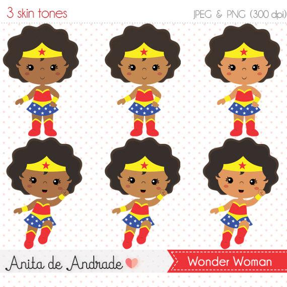 Ad girl clipart clip art download Wonder woman clipart, super hero vector, black kids cipart, black ... clip art download