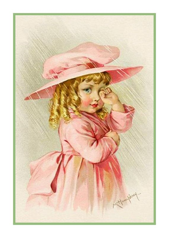 Adalaide clipart graphic library download Maud Humphrey Bogart\'s Young Girl in Her New Pink Outfit Counted ... graphic library download