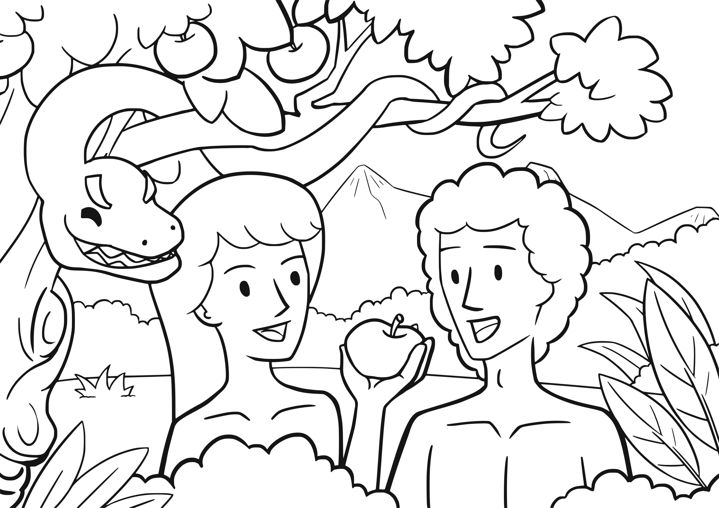 Adam clipart black clipart black and white HD Adam And Eve Clip Art - Adam And Eve Drawing Transparent PNG ... clipart black and white