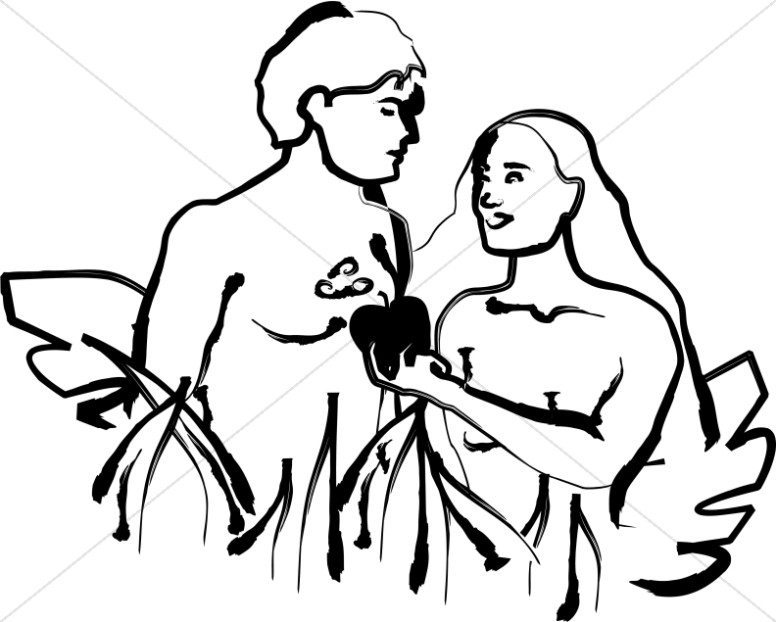 Adam clipart black graphic royalty free Christian Clipart of Adam and Eve   Adam and Eve Clipart graphic royalty free