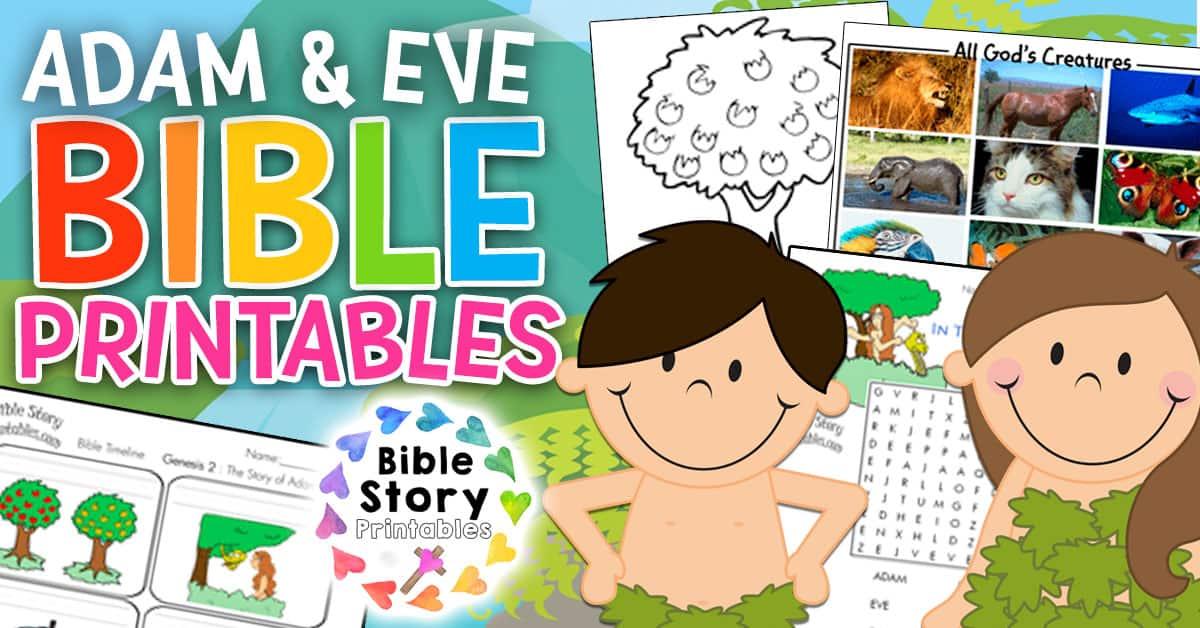Adam s descendants clipart image royalty free stock Adam & Eve Bible Printables - Bible Story Printables image royalty free stock
