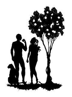 Adam silhouette clipart jpg stock Adam and Eve | Tattoo | Pinterest | Silhouette, Everything and ... jpg stock