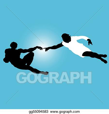 Adam silhouette clipart graphic library library EPS Vector - \