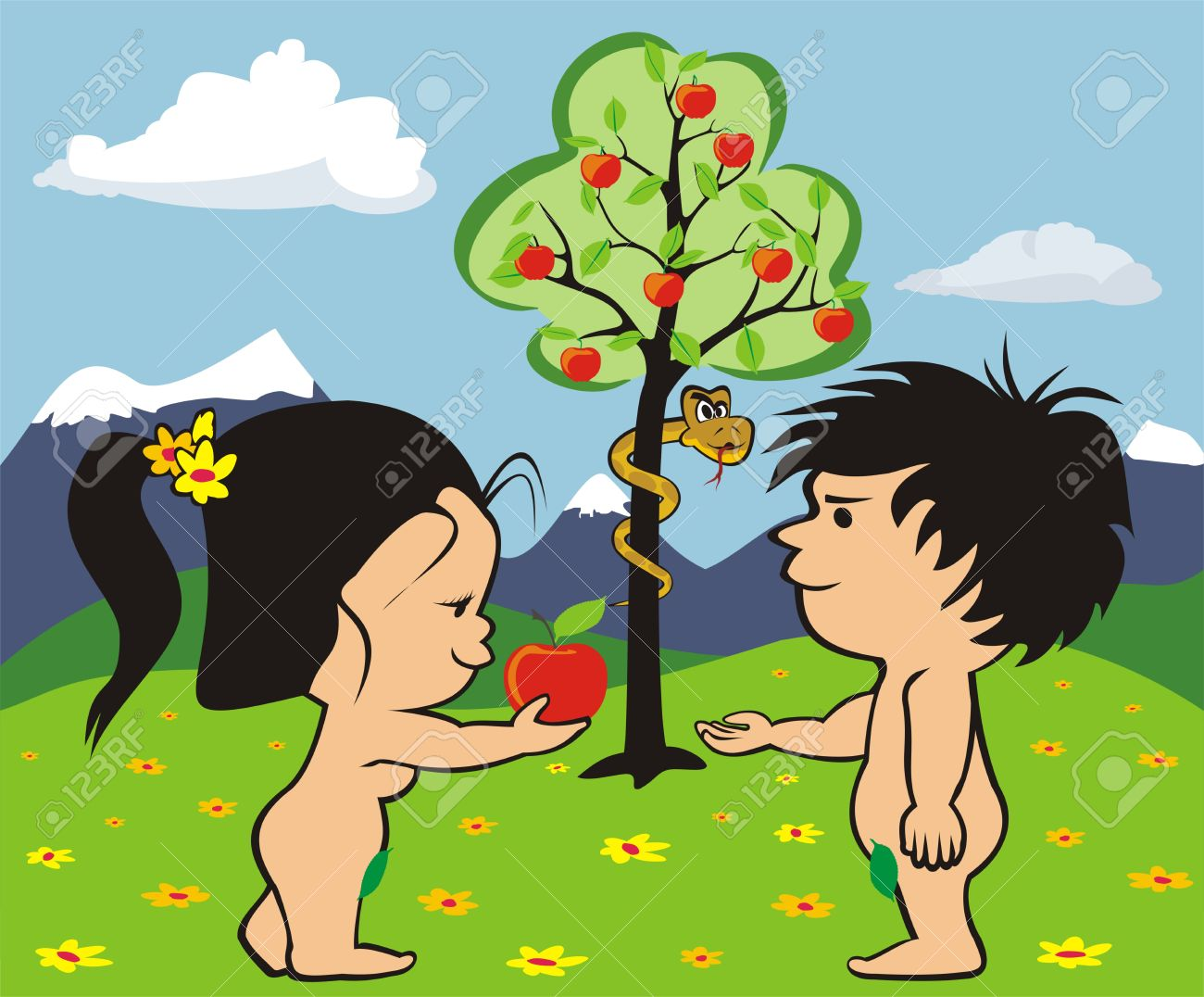 Adam und eva clipart graphic download Adam and eve apple clipart - ClipartFest graphic download