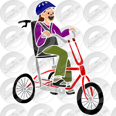 Adapative toys clipart jpg library download Adaptive Bike Stencil for Classroom / Therapy Use - Great Adaptive ... jpg library download