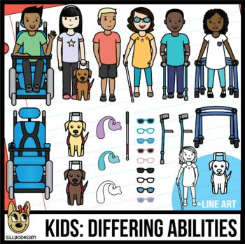 Adaptive clipart images svg library library Kids with Adaptive Equipment - kids with disabilities Clip Art #1 ... svg library library