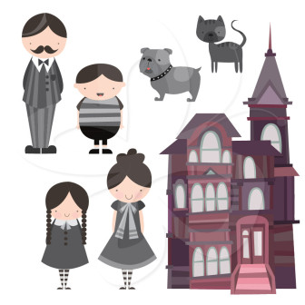 Addams clipart vector download Addams family clipart » Clipart Station vector download
