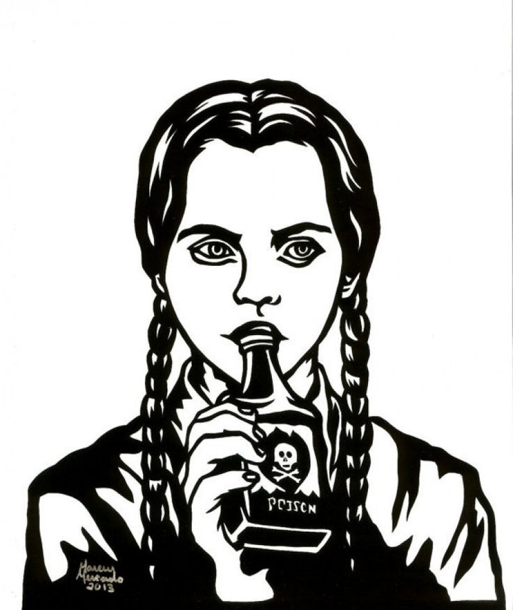 Addams family clipart katie graphic Wednesday Addams tattoo | The Addams Family | Wednesday addams ... graphic
