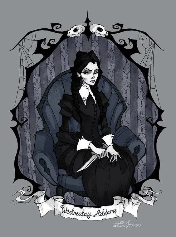 Addams family clipart katie clipart library Wednesday Addams | Wednesday Addams / Christina Ricci in 2019 ... clipart library