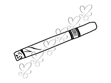 Addiction to cigarete clipart black and white library Amazon.com: Yetta Quiller Cigar Cigarette Addiction Nicotine ... black and white library