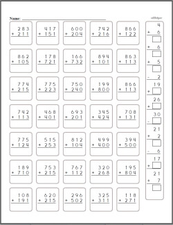 Adding 3 digits clipart images graphic free 3 Digit Addition - Worksheets, Lessons, and Printables graphic free