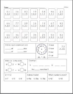 Adding 3 digits clipart images svg royalty free stock 2 Digit Addition - Worksheets, Lessons, and Printables svg royalty free stock