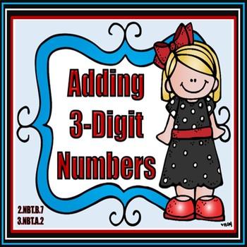 Adding 3-Digit Numbers Task Cards clip art freeuse download
