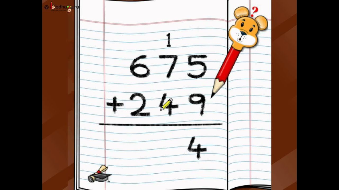 Maths - Add three digit numbers - English clip black and white library