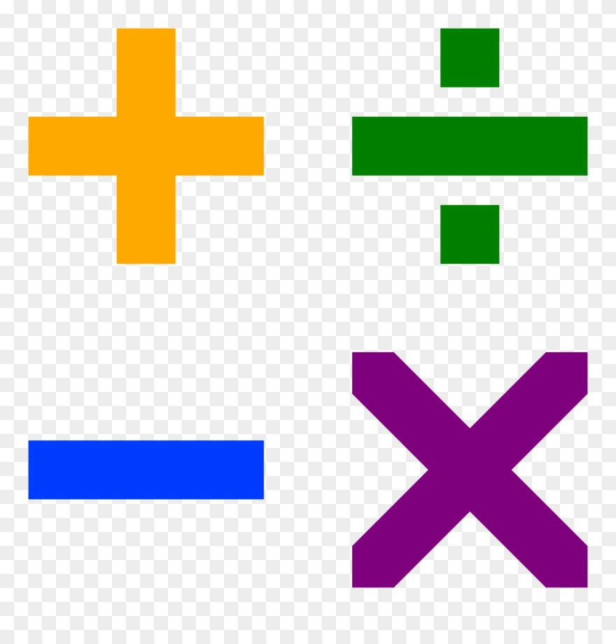 Addition Subtraction Multiplication Division Signs Clipart (#419278 ... banner transparent stock