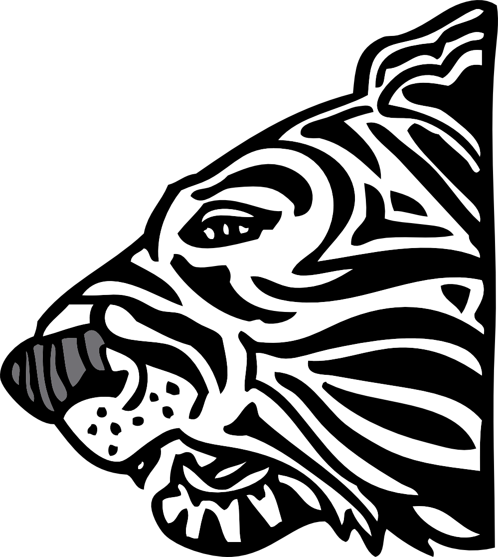 Address book clipart black and white svg black and white library Image of Tiger Clipart Black and White #13206, Tiger Clipart Black ... svg black and white library