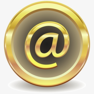Email Clipart Sign Mail - Email Icon Gold Png #959367 - Free ... clipart free stock