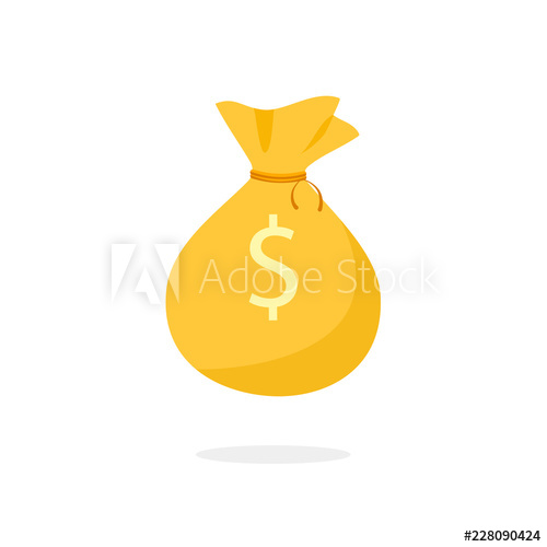 Golden Money Bag icon. Clipart image isolated on white background ... jpg royalty free