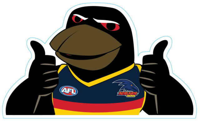 Adelaide crows clipart graphic transparent library AFL Back Car Window Decal graphic transparent library