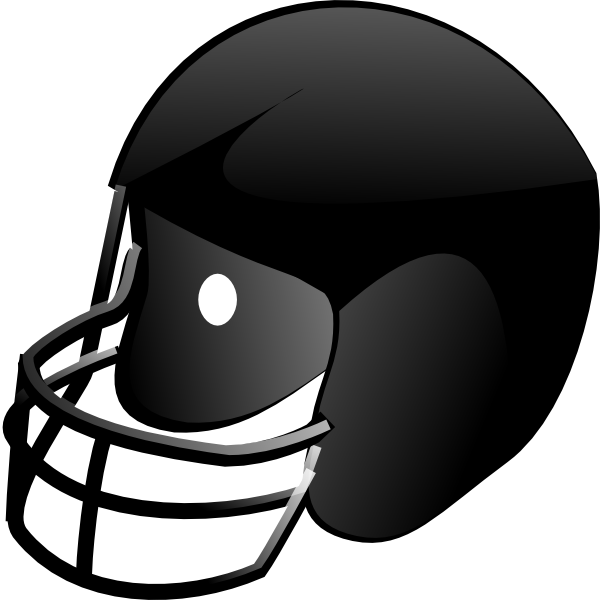 Front vector panda free. Football helmet clipart black and white