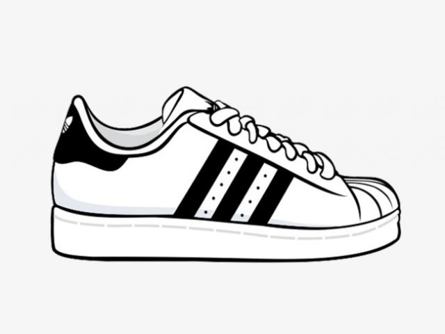 Adidas superstar black white clipart vector royalty free download Free Adidas Shoes Clipart, Download Free C #489661 - Clipartimage.com vector royalty free download