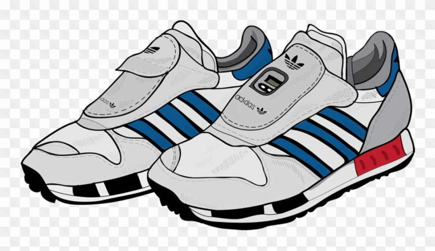 Running Shoe Clipart - Transparent Adidas Cartoon Shoes - Png ... clipart royalty free download