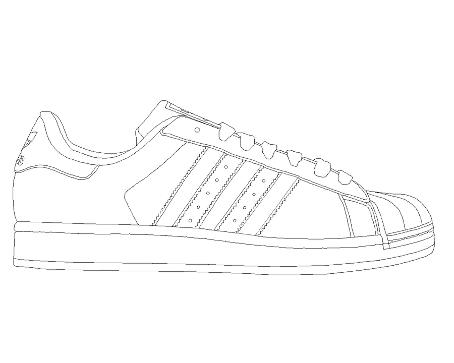Adidas superstar black white clipart clipart library library Adidas Superstar template by katus-nemcu on deviantART | shoe 2-D in ... clipart library library