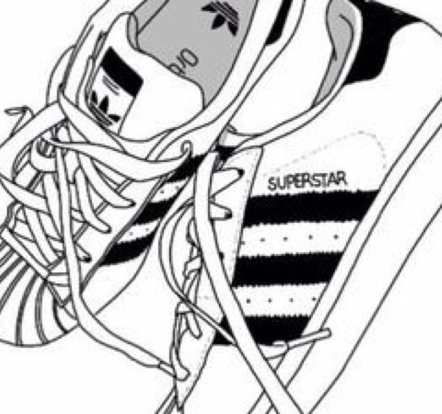 Adidas superstar black white clipart clip art transparent download Pin by addison on drawing in 2019 | Adidas drawing, Adidas shoes ... clip art transparent download