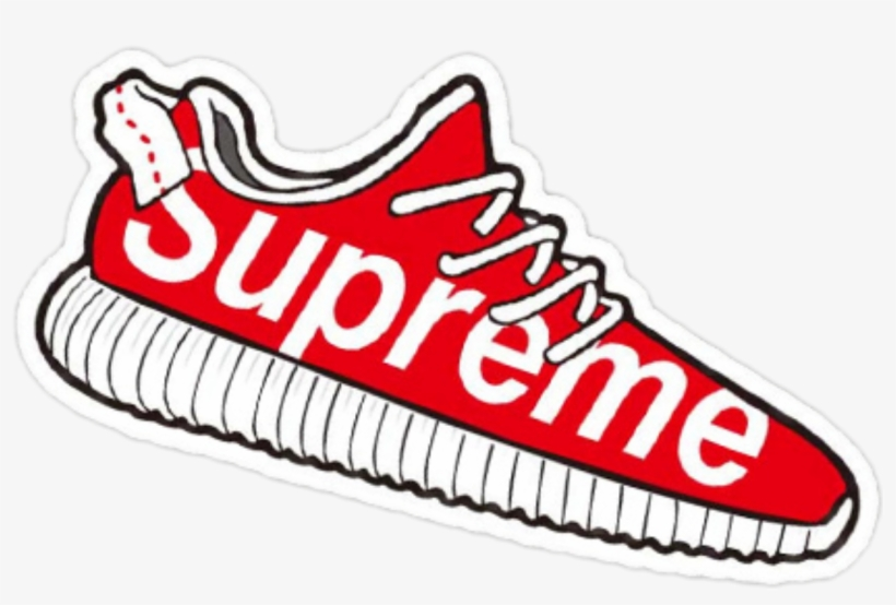 Adidas yeezy clipart image royalty free library Supreme Sticker Adidas Yeezy - Supreme Clip Art - Free Transparent ... image royalty free library