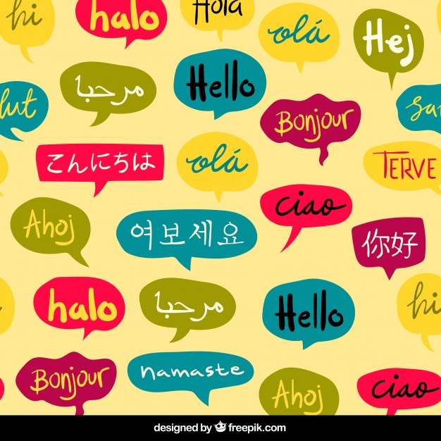 Hand drawn hello word pattern in different languages Vector | Free ... png free download
