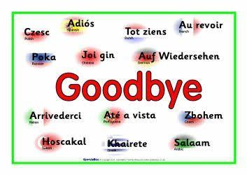 Adios multiple languages clipart clipart library library Learning common words in another language is fun and easy! Here is a ... clipart library library