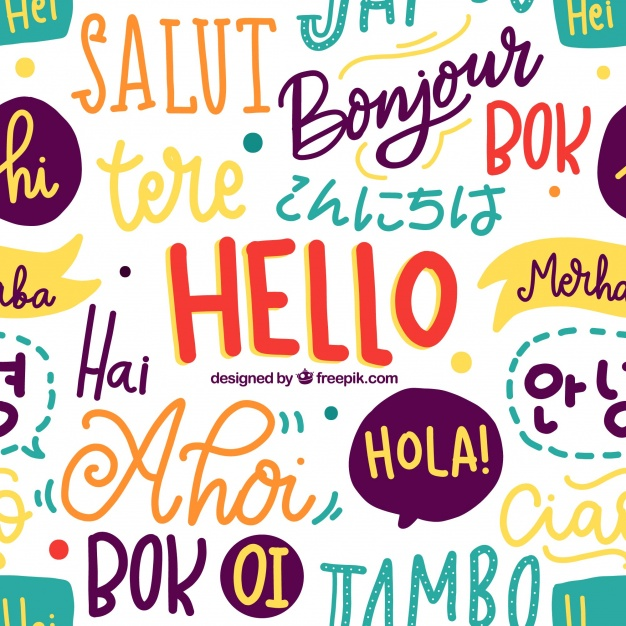 Hello words pattern in different languages Vector | Free Download jpg freeuse download