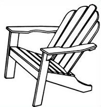 Adirondack chairs clipart clipart free library Adirondack chair clipart » Clipart Station clipart free library