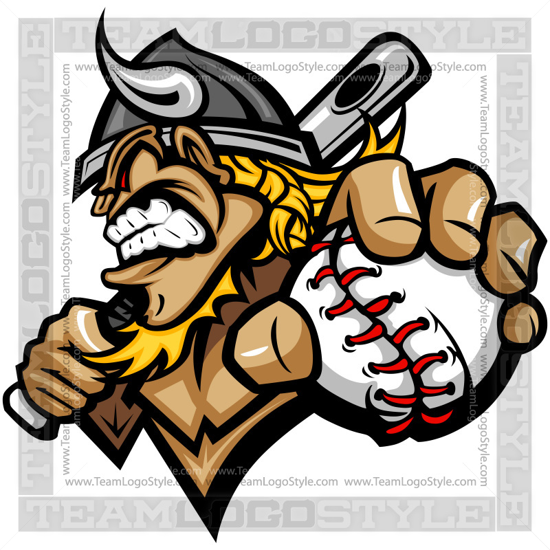 Adjust logo clipart vector stock Viking Baseball Logo - Vector Clipart Viking vector stock