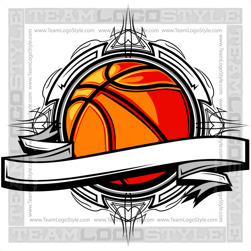 Adjust logo clipart clipart freeuse stock Basketball Clipart - Vector Clipart Banner Design clipart freeuse stock
