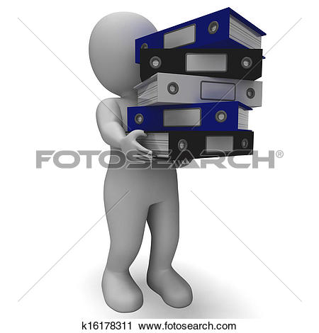 Admin clerk clipart vector transparent library Clipart of Organizing Clerk Carrying Organized Records k16178311 ... vector transparent library