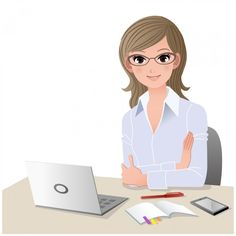 Admin clerk clipart banner Secretary Woman typewriter | Old Secretary | Secretaries Rule ... banner