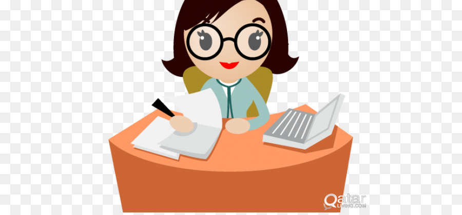 Administrative assistant clipart images image black and white library Glasses Background clipart - Secretary, Product, Cartoon ... image black and white library